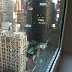 A room with a view:  Broadway leading up to Times Square