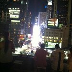 Hotel Lobby Terrace:  Great view of Times Square (so bright at night!)