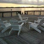 Beautiful dock at sunset.