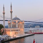 Ortakoy Mosque and Bosphorus Bridge View