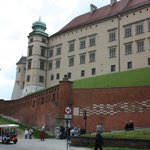 First look at the castle entering Wawel Hill