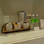 Steht jeden Tag zur Verfügung: Caffe, Tee & gratis Wasser