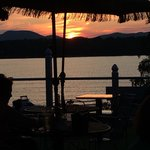 "Sunset over the ""Great Sacandaga"" from I Go Inn's deck."