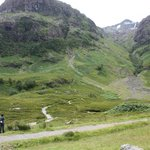 Glen Coe, including snow-capped mountains in July