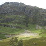 There were many paths and hikers at Glen Coe