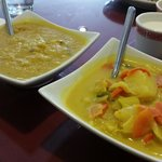 Two Veggie Curries - Daal and Yellow Curry with Potatoes and Carrots - EXCELLENT!