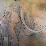 beautiful elephant mural in lobby