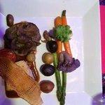 Entree - Petite Filet and Sea Bass
