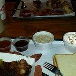 ribs, sausage, cole slaw and mac & cheese