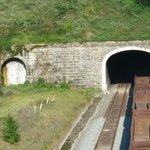 Train Coming Through Tunnel