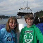 On Captain Brett's boat.