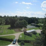 View from The Tower - garden, gazebo, basketball courts