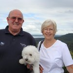 Ian and Heather, of Twin Harbours Tours and Transfers