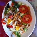 Yummy refreshing salad with a dressing to die for