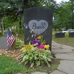 Lucille Ball's tombstone, Jamestown NY