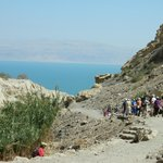 view of the Dead Sea from the trail