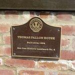 Thomas Fallon House Historic Plaque, San Jose, Ca