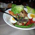 Salada de atum - La Brasserie,  Hotel du Louvre.
