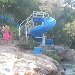 Slides in the rec swimming area