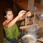 Making Thai silk