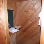 Washroom in our cabin