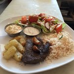 One of our Tuesday specials, Lebanese steak and rosemary potatoes