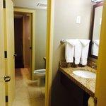 Restroom and separate vanity area