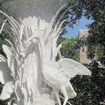 Close up fountain in Forsyth Park