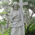 Another of the many peaceful monuments in Bonaventure Cemetery