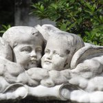 Sweet cherub monument