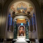 Beautiful altar and nativity painting