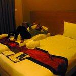 My kids shared a room w/ 2 single beds