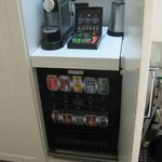 Nespresso machine and automatic mini bar