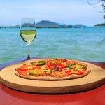 pizza on Nikitas beach Rawai