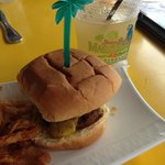 Sliders and a tasty Margarita