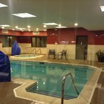 pool, looking from gym