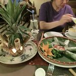 Spring rolls a la pineapple....although there was no pineapple to eat.