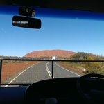 On the road to Uluru, Gangsta's Paradise playing in the back