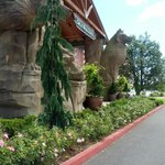 the front of the lodge