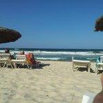 On the beach