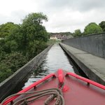 Crossing the aqueduct by canal boat