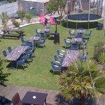 Garden Terrasse - great for dining with children!