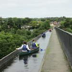Canoeists crossing - what an experience