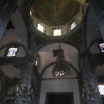 Hermosa Cubierta o techo de la iglesia antigua de Guadalupe, Mèxico D:F:
