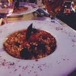 Vegetable cous cous and Efes beer