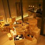 Spitzenweine im Begehbaren Weinkeller mit Lounge