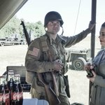 A WwII Reenactor at Historic Flight's D-Day Commemeration