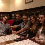 fun waiters at Cafe de la tour