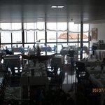 Una parte della sala da pranzo