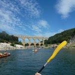 Arrivée au Pont du Gard